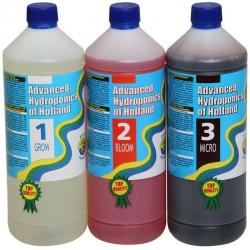Advanced Hydroponics Set Grow, Bloom, Micro 3 Liter
